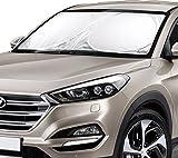 BlizeTec Parasole di qualità per parabrezza auto, con specchietti per l'angolo morto e cuscinetto antiscivolo per il cruscotto, adatto a berline e SUV