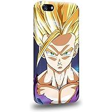 Case88 Premium Designs Dragon Ball Z GT AF Son Goku Super Saiyan Super Saiyan Gohan Carcasa/Funda dura para el Apple iPhone 5C