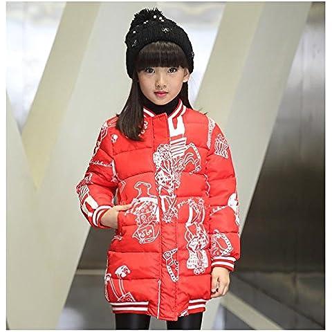 MYM chicas para niños invierno grande de algodón virgen nuevos grandes de la chaqueta y largas secciones patrón de los niños del bebé de la marea ,