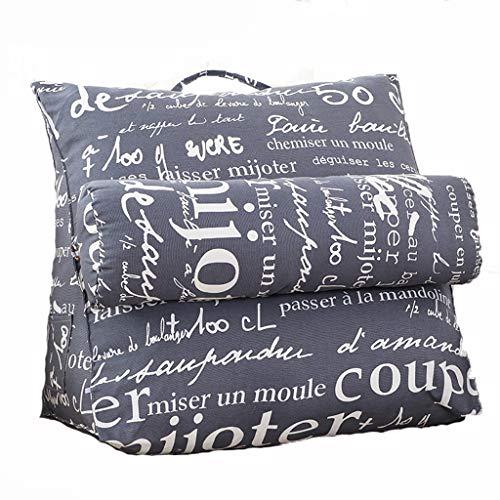 Bett kissen Taille Rückenkissen Nackenschutz Lendenkissen großes Kissen abnehmbare waschbare Kissen Canvas Stoff Perle Baumwolle Füllung drei-Geschwindigkeit verstellbare Stahlschnalle 4 Farben behobe -