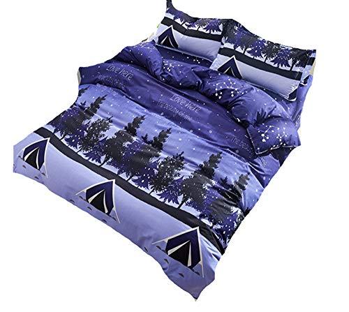 Luemdss Aloe Cotton Print Four-Piece Pillow Case Cover Cover Modern Trendy Durable Weiche Qualitätsbettwäsche - atmungsaktiv im Sommer, warm im Winter -