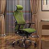 BHJqsy 360 ° drehstuhl/Computerstuhl, Home Lazy Chair Bürokonferenzhocker Rotary Lift Boss Stuhl Taille Stuhl Esports Spiel Stuhl (Farbe : Green)