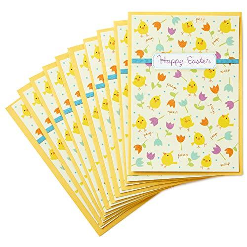 Hallmark Osterkarten, Küken und Blumen, 10 Karten mit Umschlägen (Lehrer-küken)