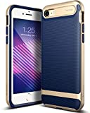 Caseology iPhone 8 Hulle, iPhone 7 Hulle, [Wavelength Serie] Schlank Doppelte Schutzschicht Taktil Griff Military Grade Schutz [Navy Blau - Navy Blue] fur Apple iPhone 7 (2016) / iPhone 8 (2017)