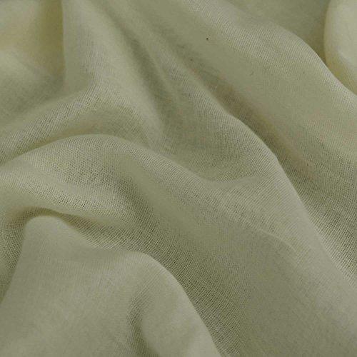 Creme Ägyptische Musselin Baumwolle Stoff Premium Voile 152,4cm 150cm breit, Meterware, (Ägyptische Baumwolle Stoff)