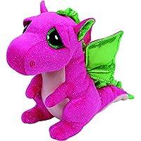TY - Beanie Boos Darla, peluche dragón, 15 cm, color rosa (United
