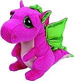 Carletto Ty 37173 - Darla mit Glitzeraugen, Glubschi's, Beanie Boo's Drache, 15 cm, Pink