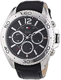 Tommy Hilfiger Watches Herren-Armbanduhr XL GRANT Analog Quarz Leder 1791029