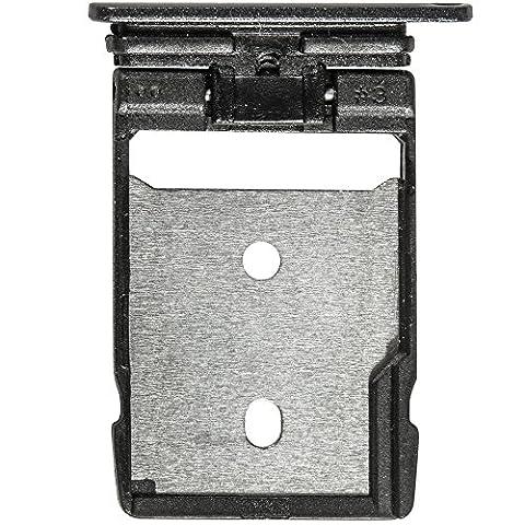 Original HTC SD Kartenhalter black / schwarz für HTC One A9 (SD Tray, Holder) - 74H03077-01M (Htc Black)