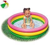Aufstellpool Babypool Pool Planschbecken Babyplanschbecken Schwimmbecken Rund mit aufblasbarem Boden...