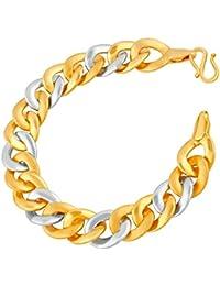 VK Jewels Ideal Gold And Rhodium Plated Alloy Bracelet For Men & Boys [VKBR2362G]