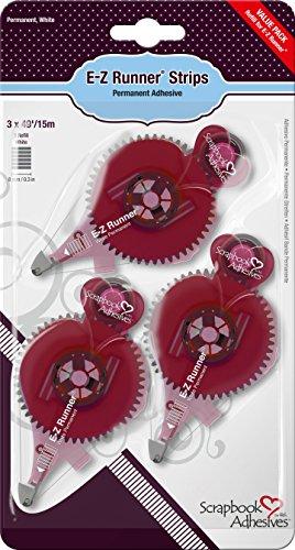 Scrapbook Adhesives Donna Salazar by 3L Säurefreier Kleber E-Z Sterne Nachfüllpackung Streifen, 3er-Pack -