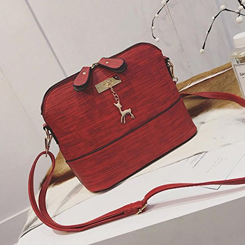 Frauen Paket Shell Vintage Bags Handtaschen Kleine Handtasche Huhu833 Damen Neue Casual Rot Messenger Leder qaAn76gfW