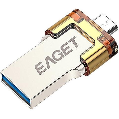 EAGET V80 de doble uso Carcasa de metal de alta velocidad USB 3.0 OTG Pen Drive para Android Smartphones / tabletas / PC