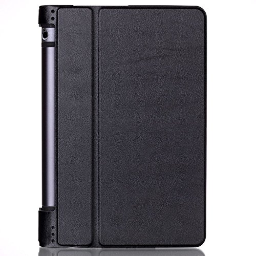 SPL Premium PU Leather Book Stand Cover for Lenovo Yoga 3 8 inch Android Tablet  Black