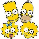 Star Cutouts Ltd STAR Cutouts––stsmp260–4maschere ad.–Homer Bart Lisa Maggie–I Simpson–Taglia unica