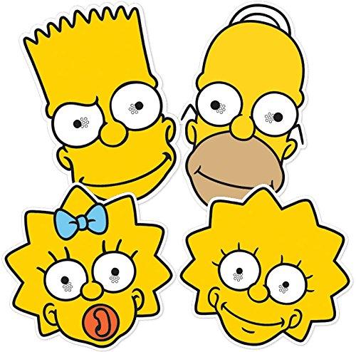 STAR Cutouts--stsmp260-4maschere ad.-Homer Bart Lisa Maggie-I Simpson-Taglia unica