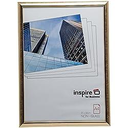 EASA4GDP Pala facile quadro A4(21x 30cm) Certificato cornice portafoto Tabella poster in Dorato con non prima in Vetro