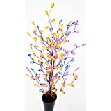Joyful Home Creations- Home Decor Multi Colored 25 Inches Long Artificial Acrylic Flowers For Festive Decor, Home Improvement Wedding Decorations & Christmas Decoration In Set Of 3 PCs. - B0784JZXP7