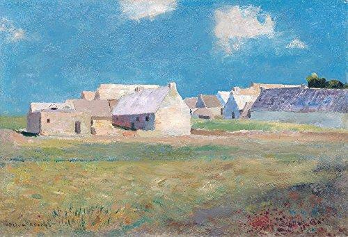 Das Museum Outlet-Breton Village, 1890, gespannte Leinwand Galerie verpackt. 29,7x 41,9cm