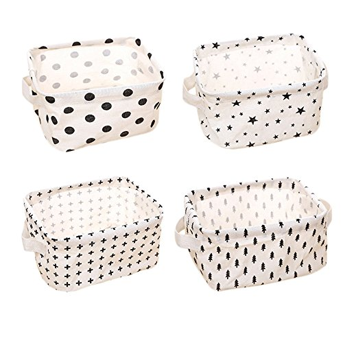 Ciaoed kleines Babyfutter Storage Organizer Sets (Pentagramm, Dreieck Baum, Punkt, Kreuz) Aufbewahrungsbox, Zwei Griffe 20x17x12,5 cm-Sets von 4
