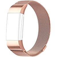 AdePoy Replacement Strap Bands Compatible For Fitbit Charge 2, Milanese Loop Stainless Steel Bracelet Smart Watch Wristbands with Unique Magnet Lock compatible for Fitbit Charge 2