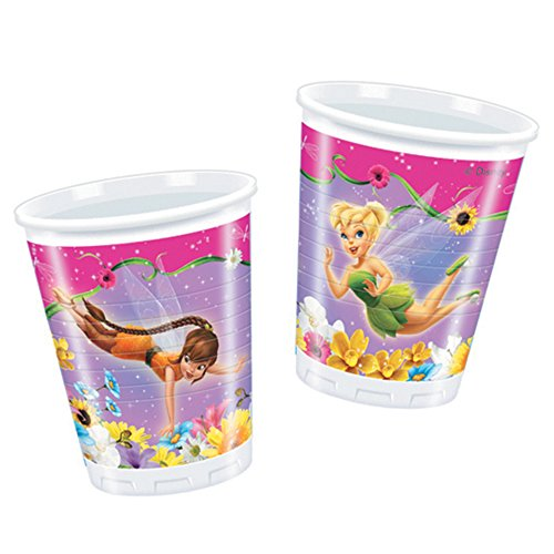 10 bicchieri in plastica monouso Trilly Fairies Tinker Bell 200 cc
