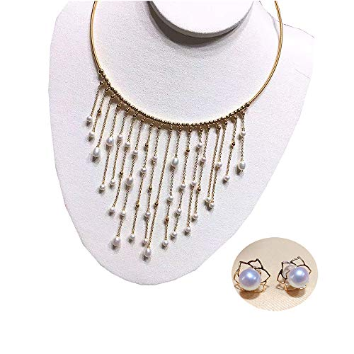 FXL Damen Halskette Große Marke Perle Quaste Halskette 14 Karat Vergoldet Material Perle Kragen Weiblich - Schaffell-kragen