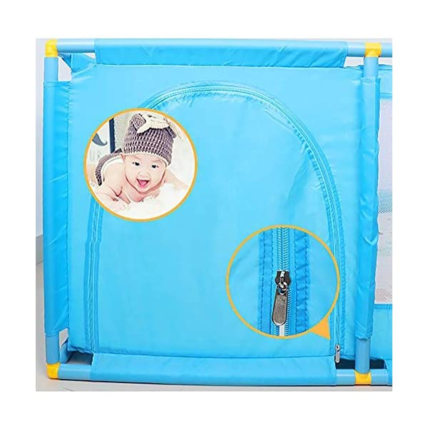 Protable Baby Game Playpen, Large Blue Boys Safety Play Center Yard, 128×128×66cm (Size : Playpen) Playpens  4