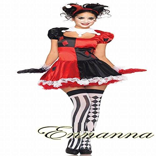 WEII Halloween Cosplay Kostüm Party Erwachsene Cute Clown Show Kostüm Rollenspiel Kostüm,Stil (Cute Clown Kostüm)