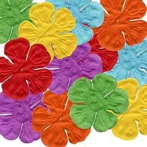 120 fleurs d'hibiscus pour décoration de table Tropical Hula Luau