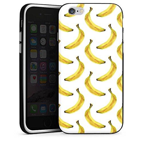 Apple iPhone X Silikon Hülle Case Schutzhülle Bananen Sommer Früchte Silikon Case schwarz / weiß