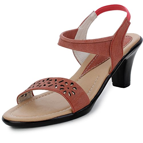 Trase Flint Beige Faux Leather Sandal for Women Dailywear-8 IND/UK