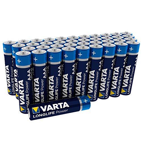 Varta Longlife Power Batterie AAA Micro Alkaline Batterien LR03 (40er Pack)