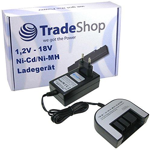 Trade-Shop Universal Akku Ladegerät (1,2V-18V) Ladestation Schnellladegerät für Black & Decker BL1514 BL1518 BL1520 BL20 BL2018 BL2020 BL3018 BL3020 BL4018 BL4020 BPT318 BPT318-XE CCS818 CCS818-2 CD1200SK