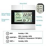 Termometro Igrometro Digitale Contatore Termometro Temperatura di umidità, Temperatura e umidità monitorare con sveglia, min / max records, la tendenza di variazione della temperatura, ℃ / ℉ interruttore meteo