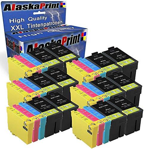 Alaska - Cartucce per stampante Cartucce per Epson 27Xl 27 XL T27XL Multipack per Workforce WF 3620 3640 7610 7620 7110 WF3620 WF3640 Set da 30