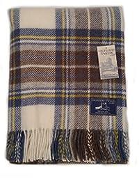 Highland Tweeds - Manta de viaje  Azul azul