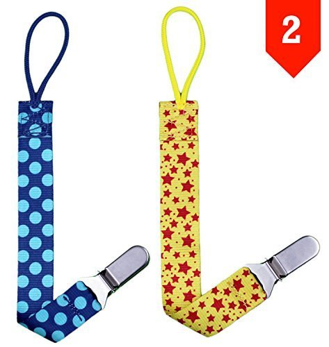Pacifier Clips for Soothies by BabyBecca, Stainless Steel Clip, No Rust, Universal...
