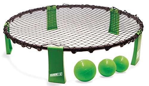 Schildkröt-Funsports Roundnet Set, komplettes Set für den sofortigen Start, inkl. 3 Bälle, Ballpumpe und Tragetasche, ultimativer Spaßfaktor für Jung und Alt, 970980