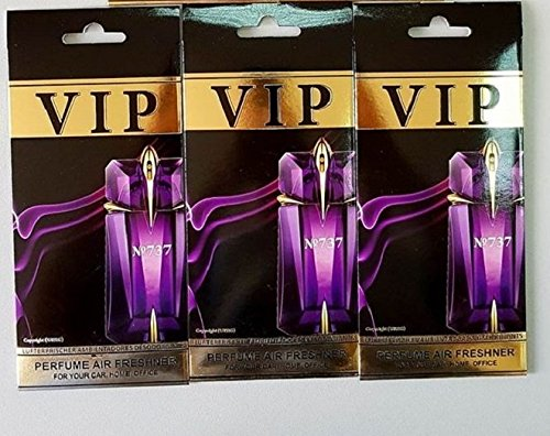 "Preisvergleich Produktbild 3 x Caribi VIP Car, Home or Office Air Freshener with parfume fragrance of 737 - Thierry Mugler ""Alien"""