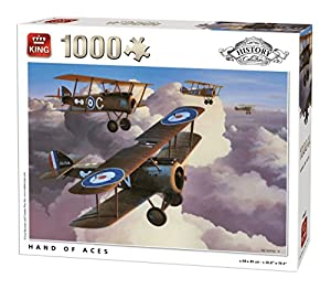 King History Collection Hand of Aces 1000 pcs Puzzle - Rompecabezas (Puzzle Rompecabezas, Historia, Adultos, Hombre/Mujer, 8 año(s), Cartón)
