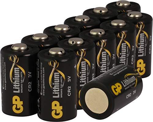 GP Lithium Batterien CR2 (CR-2, CR15H270) 3 Volt für Digitalkameras, Camcorder, Rauchmelder, Taschenlampen, etc. (12 Stück, einzeln entnehmbar)