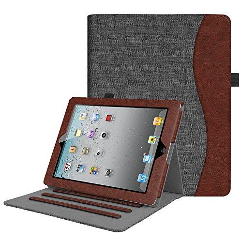 Fintie Hülle für iPad 2 / iPad 3 / iPad 4 - [Eckenschutz] Multi-Winkel Betrachtung Folio Stand Schutzhülle Cover Case mit Dokumentschlitze, Auto Schlaf/Wach Funktion, Denim dunkelgrau