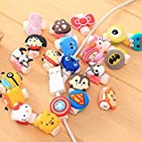Boy: 5PCS cavo USB auricolari Protector Hello Kitty cover per iPhone Android cavo dati linea della manica per iPhone