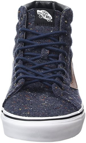 Vans Sk8-Hi, Sneakers Hautes Mixte Adulte Bleu (Wool & Leather parisian night/tortoise shell)