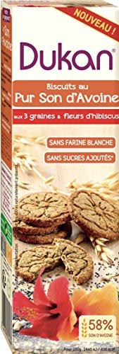 Dukan Biscuit au Son d'Avoine 3 Graines/Fleur d'Hibiscus 95 g - Lot de 8