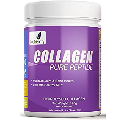 Nutrizing Hydrolyzed Collagen Powder For Stronger Bones, Shiny Hair, and Smoother Skin ~ Unflavoured Beef Protein From Grass Fed & Pasture Raised Cattle ~ 100% Natural ~ Tasteless & Easy to Dissolve Powder ~ Works Best To Improve Bones, Joints, Muscles ~