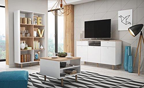 Charmant Mb Moebel Moderne Wohnwänd Wohnzimmer Möbel Schrankwand Sand Buche Weiß  PIKO 5