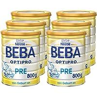 Nestlé BEBA OPTIPRO PRE Anfangsmilch, Baby-Milch mit guter Verträglichkeit, Milchpulver, für Säuglinge, ab Geburt, 6er Pack (6 x 800 g)